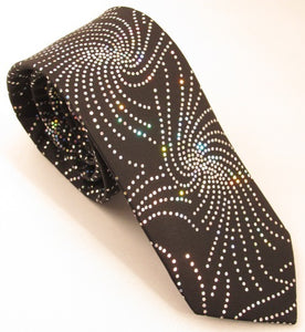 Shiny Black Star Tie by Van Buck