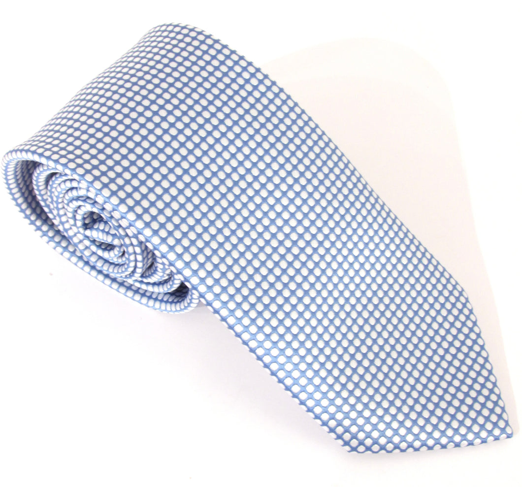Sky Blue Honeycomb Fancy Tie by Van Buck