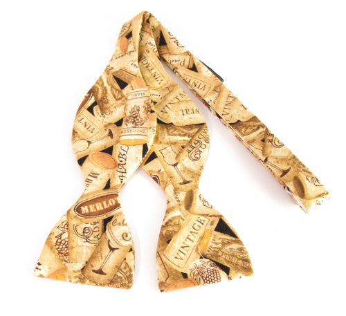 Bottle Cork Self-Tied Bow Tie by Van Buck