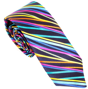 Limited Edition Navy Multi Striped Silk Tie