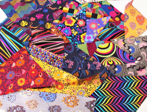 Limited Edition Fabric Pieces 100g Bag of Assorted
