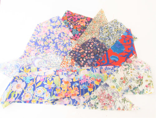 50g Bag of Assorted Patchwork Liberty Fabric
