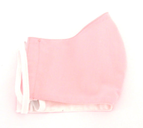 Plain Pink Cotton Face Covering / Mask