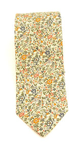 Katie & Millie Tan Cotton Tie Made with Liberty Fabric