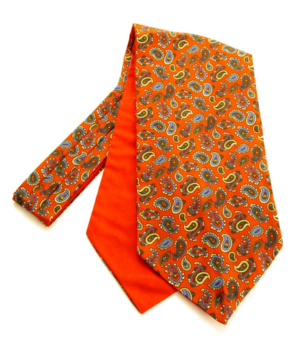 Classic Red Paisley Silk Cravat by Van Buck