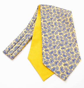 Yellow Paisley Silk Cravat by Van Buck