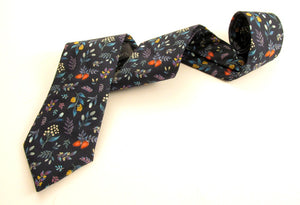 Berry Garden Cotton Tie Made With Liberty Fabric