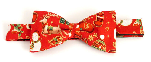 Red Festive Christmas Bow Tie by Van Buck