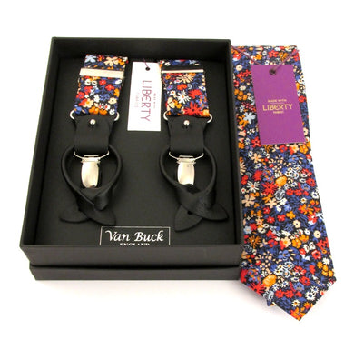 Floral Affair Tie & Trouser Set Made with Liberty Fabric