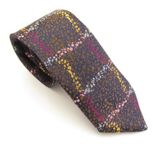 Van Buck Limited Edition Brown Oil Splatter Silk Tie