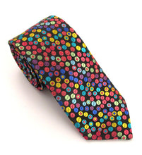 Limited Edition Multicoloured Circles Silk Tie by Van Buck