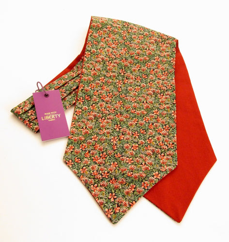 Ragged Robin Cotton Cravat Made with Liberty Fabric