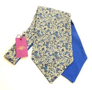 Emma & Georgina Blue Cotton Cravat Made with Liberty Fabric