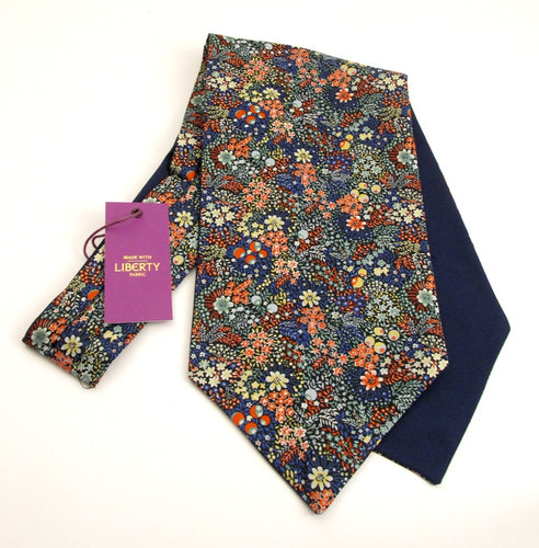Elderberry Cotton Cravat Made with Liberty Fabric