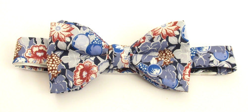 Bordeaux Bow Tie Made with Liberty Fabric