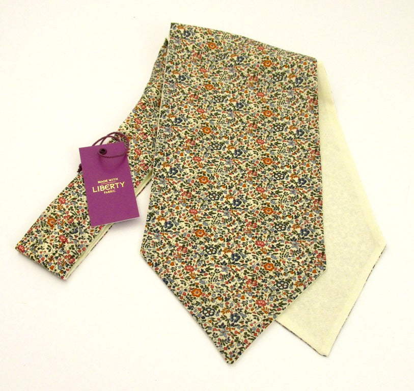 Katie & Millie Tan Cotton Cravat Made with Liberty Fabric