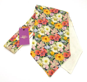Melody Blooms Cotton Cravat Made with Liberty Fabric