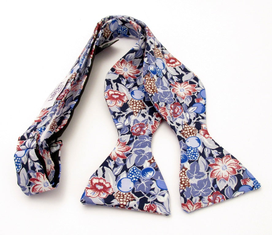 Bordeaux Self Tie Bow Tie Made with Liberty Fabric