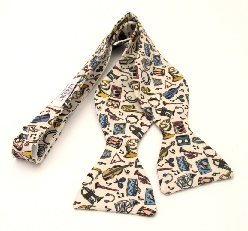 Miles Jazz Self Tie Bow Tie Made with Liberty Fabric