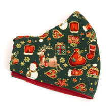 Green Christmas Cotton Face Covering / Mask