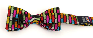 Van Buck Limited Edition Multicoloured Geometric Silk Bow Tie