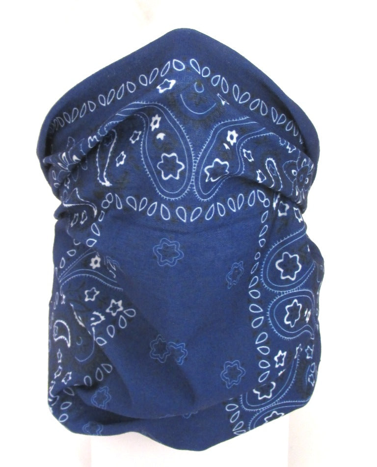 Navy Medallion Paisley Snood