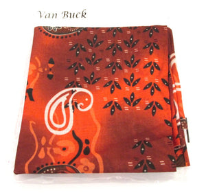 Burnt Orange Abstract Paisley Snood