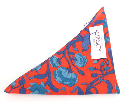 Columbia Road Cotton Pocket Square Made with Liberty Fabric