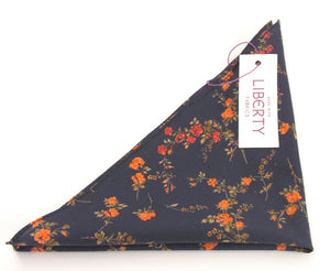 Elizabeth Cotton Pocket Square Made with Liberty Fabric