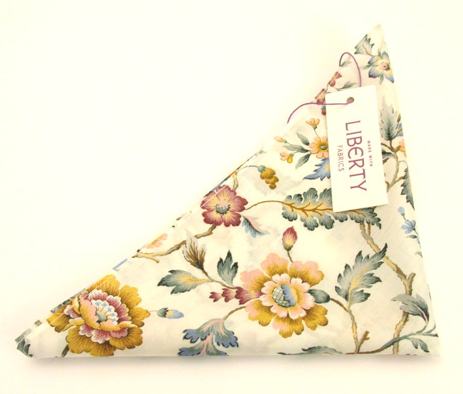 Eva Belle Cotton Pocket Square Made with Liberty Fabric