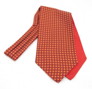 Neat Red Fancy Silk Cravat by Van Buck