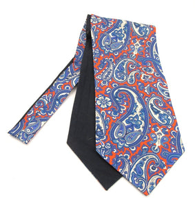Red Large Detailed Paisley Fancy Silk Cravat by Van Buck
