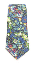 Strawberry Thief Green Cotton Tie Made with Liberty Fabric