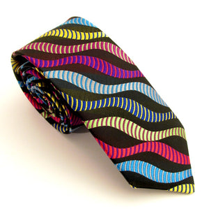 Van Buck Limited Edition Exclusive Pastel Multicoloured Stripe Silk Tie