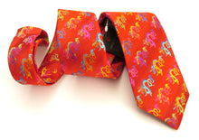 Limited Edition Bright Red Dragon Silk Tie by Van Buck