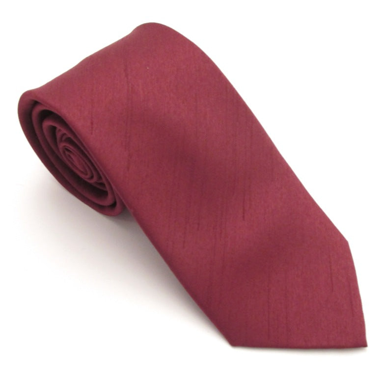 Wine Red Slub Wedding Tie by Van Buck