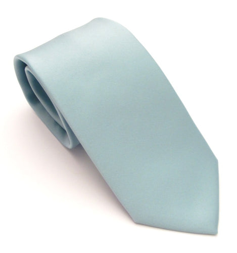 Javan Sea Green Satin Wedding Tie By Van Buck