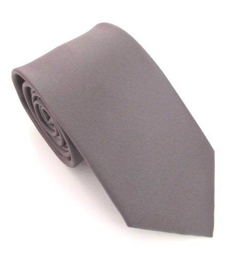 Gunmetal Satin Wedding Tie By Van Buck