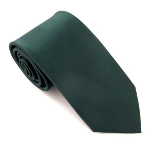 Forest Green Satin Wedding Tie By Van Buck