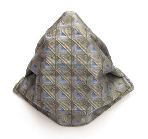 Grey Pattern Silk Face Covering / Mask