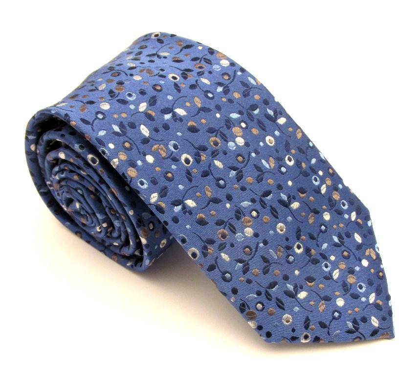Blue Berries London Silk Tie by Van Buck