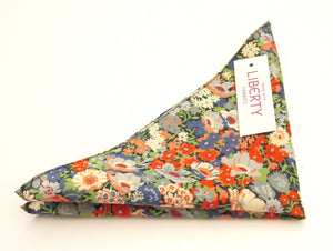 Thorpe Green Cotton Pocket Square Made with Liberty Fabric