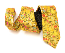 Van Buck Limited Edition Gold Flower & Vine Silk Tie