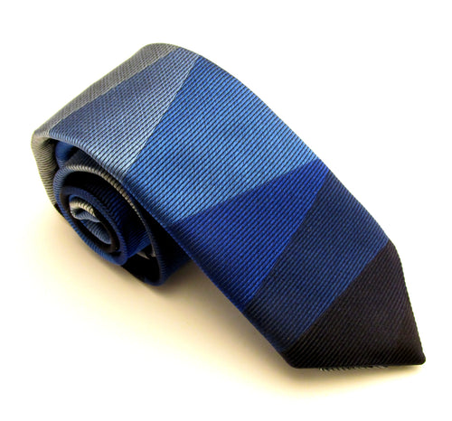 Limited Edition Blue Panel Silk Tie by Van Buck