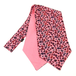 Pink Small Paisley Fancy Silk Cravat by Van Buck