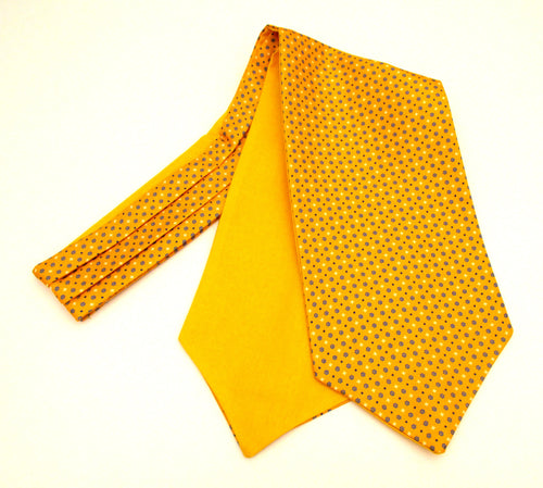 Orange Neat Medallion Silk Cravat by Van Buck