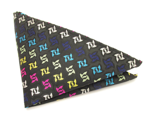 Limited Edition Black Ninja Star Silk Pocket Square by Van Buck
