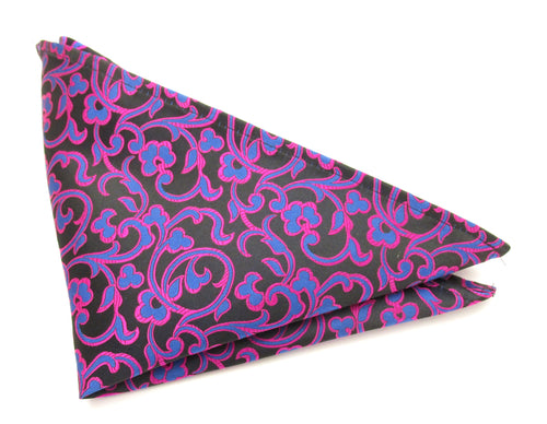 Limited Edition Royal Vine Silk Pocket Square by Van Buck