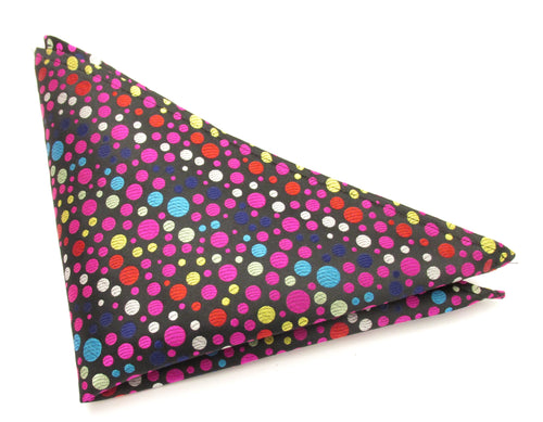 Limited Edition Multicoloured Fizz Silk Pocket Square by Van Buck