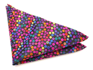 Limited Edition Bouncing Ball Silk Pocket Square by Van Buck